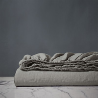 Shiloh Linen Fitted Sheet in Cement