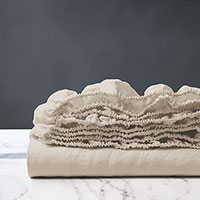 Shiloh Linen Fitted Sheet in Natural