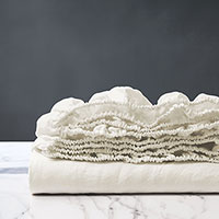 Shiloh Linen Fitted Sheet in Shell