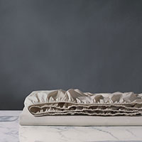 Vail Percale Fitted Sheet In Bisque