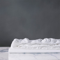 Vail Percale Fitted Sheet In White