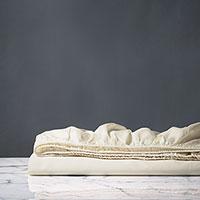 Fresco Sateen Fitted Sheet In Ivory