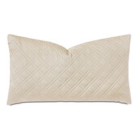 Coperta Diamond Quilted King Sham in Almond