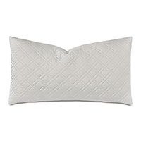 Coperta Diamond Quilted King Sham in Silver