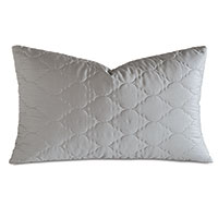 Viola Quilted King Sham in Dove