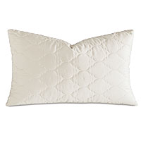 Viola Quilted King Sham in Ivory