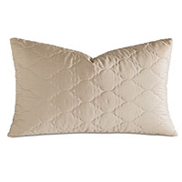Viola Quilted King Sham in Sable