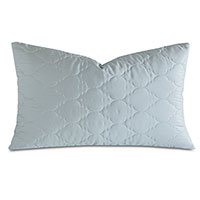 Viola Quilted King Sham in Sea