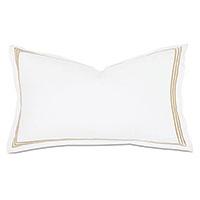 Tessa Satin Stitch King Sham in White/Bisque