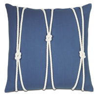 Maritime Knot Accent Pillow In Blue