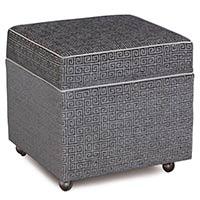 Murano Taupe Storage Box Ottoman