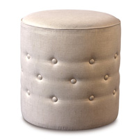 Reflection Gold Tufted Ottoman