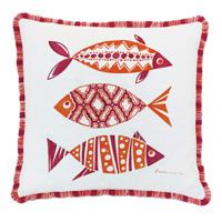 Paloma Hand Painted Decorative Pillow