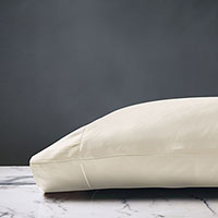 Deluca Sateen Pillowcase in Ivory