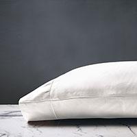 Deluca Sateen Pillowcase in White