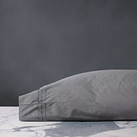 Vail Percale Pillowcase In Heather