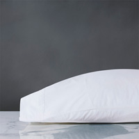 Vail Percale Pillowcase In White