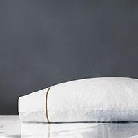Linea Velvet Ribbon Pillowcase in Antique