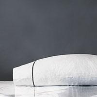 Linea Velvet Ribbon Pillowcase in Dove