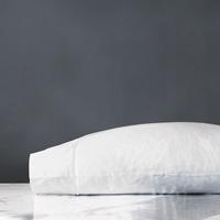 Linea Velvet Ribbon Pillowcase in White