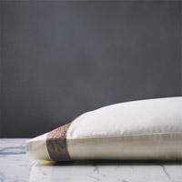 Cornice Lunetta Ivory/Truffle Pillowcase