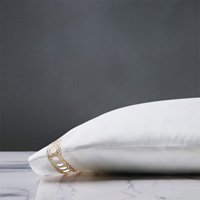 Celine Lace Pillowcase in Champagne