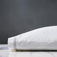 Enzo White/Silver Pillowcase
