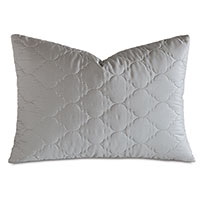 Viola Quilted Queen Sham in Dove
