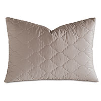 Viola Quilted Queen Sham in Fawn