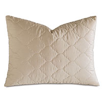 Viola Quilted Queen Sham in Sable
