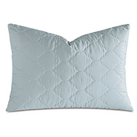 Viola Quilted Queen Sham in Sea