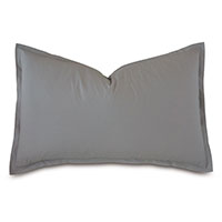 Vail Percale Queen Sham In Heather
