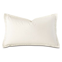 Vail Percale Queen Sham In Ivory
