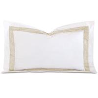 Cornice Lunetta White/Pearl Queen Sham