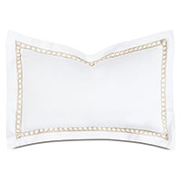 Celine Lace Queen Sham in Champagne