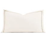 Enzo Ivory/Sable Queen Sham
