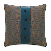 Rudy Button Application Accent Pillow