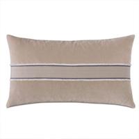 Safford Chevron Border Decorative Pillow In Khaki