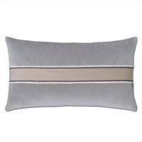 Safford Chevron Border Decorative Pillow In Gray