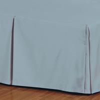 Fresco Classic Azure Pleated Bed Skirt