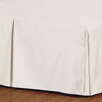 Fresco Classic Ecru Pleated Bed Skirt