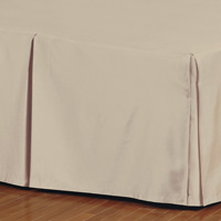 Fresco Classic Sable Pleated Bed Skirt