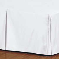 Fresco Classic White Pleated Bed Skirt
