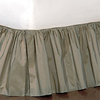Freda Ruffled Bed Skirt in Cornflower