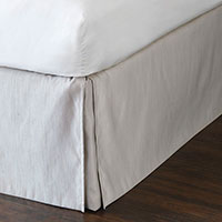 Lucent Silver Bed Skirt