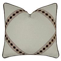 Steeplechaser Diamond Tape Decorative Pillow