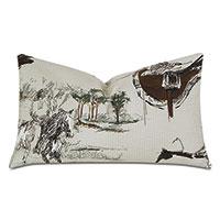 Steeplechaser Equestrian Decorative Pillow