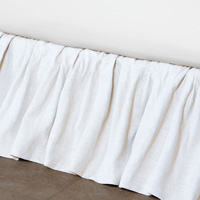 Leonara White Ruffled Skirt Panels