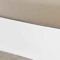 Tessa White/White Bed Skirt Panels