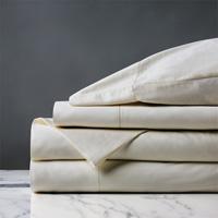 Roma Sateen Sheet Set in Ivory